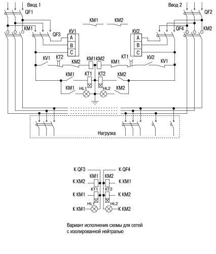 Схема устройства АВР-200М-250.
