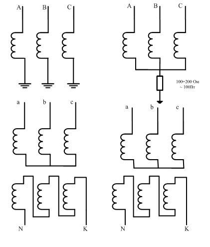 Текущая схема соединения слева