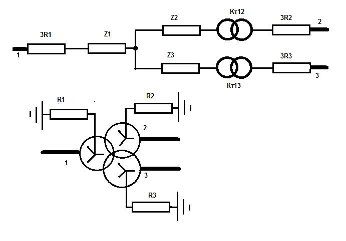 трансформатор (по нулевой